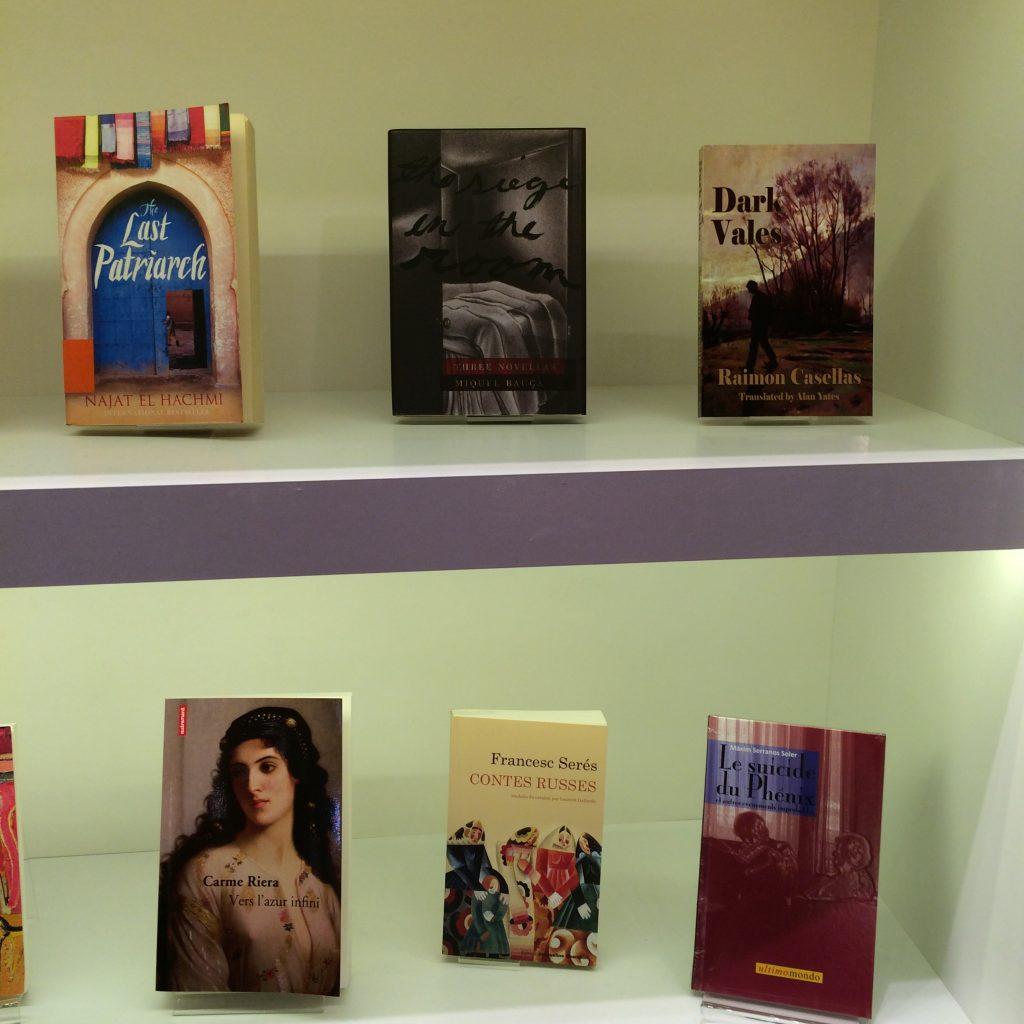 Alguns llibres catalans a Frankfurt